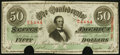 Confederate Notes:1863 Issues, T57 $50 1863 PF-15 Very Fine-Extremely Fine.. ...