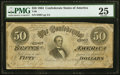 Confederate Notes:1864 Issues, T66 $50 1864 PF-2 Cr. 496 PMG Very Fine 25.. ...