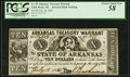 Obsoletes By State:Arkansas, (Little Rock), AR- State of Arkansas $10 July 18, 1862 Cr. 55 PCGS Choice About New 58.. ...