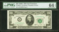 Small Size:Federal Reserve Notes, Fr. 2064-L $20 1950E Federal Reserve Note. PMG Choice Uncirculated64 EPQ.. ...