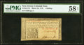 Colonial Notes:New Jersey, New Jersey March 25, 1776 1s PMG Choice About Unc 58 EPQ.