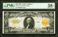 Large Size:Gold Certificates, Fr. 1187 $20 1922 Gold Certificate PMG Choice About Unc 58 EPQ.. ...