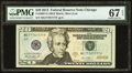 Small Size:Federal Reserve Notes, Near Solid Serial Number 77767777 Fr. 2097-G $20 2013 FederalReserve Note. PMG Superb Gem Unc 67 EPQ.. ...