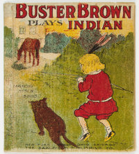 Buster Brown Plays Indian Muslin Series (Saalfield Publishing Co., 1907) Condition: VG
