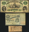 Obsoletes By State:Louisiana, Baton Rouge, LA- State of Louisiana $5 187_ Remainder Choice About Uncirculated, 2 POCs;. Shreveport, LA- Citizens' Ba... (Total: 3 notes)
