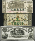 Obsoletes By State:Louisiana, Baton Rouge, LA- State of Louisiana $3 Feb. 24, 1862 Very Fine;. New Orleans, LA- Citizens' Bank of Louisiana $3 18_... (Total: 3 notes)