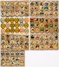 Premiums:Radio, Pep Pin and Other Pinback Group of 122 (Various Publishers, 1943-50) Condition: Average VG....