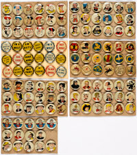 Pep Pin and Other Pinback Group of 122 (Various Publishers, 1943-50) Condition: Average VG