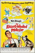 "Movie Posters:Comedy, The Absent-Minded Professor & Other Lot (Buena Vista, 1961). Folded, Overall: Very Fine-. One Sheets (5) (27"" X 41"") & Lobby... (Total: 6 Items)"