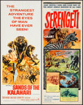"Movie Posters:Adventure, Sands of the Kalahari & Other Lot (Paramount, 1965). Rolled, Fine/Very Fine. Inserts (4) (14"" X 36""). Frank McCarthy Artwork... (Total: 4 Items)"