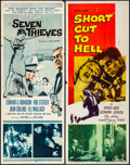 "Movie Posters:Crime, Seven Thieves & Other Lot (20th Century Fox, 1959). Rolled, Fine/Very Fine. Inserts (5) (14"" X 36""). Crime.. ... (Total: 5 Items)"