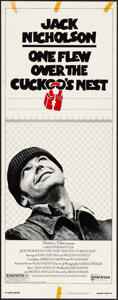 "Movie Posters:Academy Award Winners, One Flew Over the Cuckoo's Nest (United Artists, 1975). Rolled, Fine/Very Fine. Insert (14"" X 36""). Academy Award Winners.. ..."