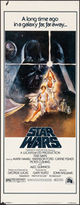 """Movie Posters:Science Fiction, Star Wars (20th Century Fox, 1977). Rolled, Very Fine-. Insert (14"""" X 36"""") Tom Jung Artwork. Science Fiction.. ..."""