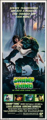"Swamp Thing (Embassy, 1982). Rolled, Very Fine/Near Mint. Insert (14"" X 36""). Richard Hescox Artwork. Horror..."