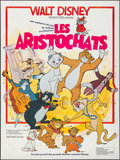 """Movie Posters:Animation, The Aristocats (Walt Disney Productions, R-1970s). Folded, Very Fine+. French Grande (47"""" X 63""""). Animation.. ..."""