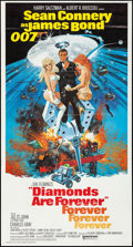 "Movie Posters:James Bond, Diamonds are Forever (United Artists, 1971). Folded, Very Fine-. International Three Sheet (41"" X 76.5""). Robert McGinnis Ar..."