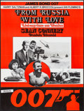 """Movie Posters:James Bond, From Russia with Love (United Artists, R-1970s). Folded, Very Fine-. Swiss Poster (23.5"""" X 31.25""""). James Bond.. ..."""