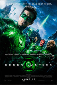 """Green Lantern & Other Lot (Warner Brothers, 2011). Rolled, Very Fine+. One Sheets (2) (27"""" X 40"""") DS Advan..."""