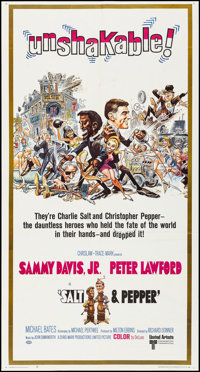"Salt and Pepper (United Artists, 1968). Folded, Very Fine. Three Sheet (41"" X 77.5""). Jack Davis Artwork. Come..."