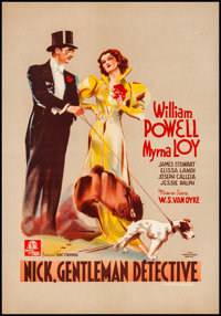 "After the Thin Man (MGM, 1937). Very Fine+ on Linen. Pre-War Belgian (15.75"" X 23"") Alternate Title: Nick, Gen..."