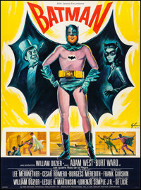 "Batman (20th Century Fox, 1966). Very Fine on Linen. Full-Bleed French Grande (45.75"" X 61.5"") Boris Grinsson..."