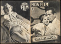 """Movie Posters:Academy Award Winners, Casablanca (Warner Brothers, 1947). Fine/Very Fine. French Program (16 Pages, 8.25"""" X 11.75"""") & Spanish Program (14 Pages, 8... (Total: 2 Items)"""
