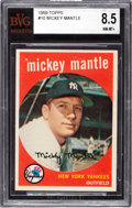 Baseball Cards:Singles (1950-1959), 1959 Topps Mickey Mantle #10 BVG NM-MT+ 8.5.. ...