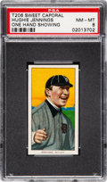 Baseball Cards:Singles (Pre-1930), 1909-11 T206 Sweet Caporal Hughie Jennings (One Hand Showing) PSA NM-MT 8 - None Higher! ...