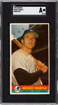 Baseball Cards:Singles (1950-1959), 1959 Bazooka Mickey Mantle (Hand Cut) SGC Authentic. ...