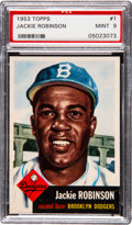 Baseball Cards:Singles (1950-1959), 1953 Topps Jackie Robinson #1 PSA Mint 9. It is al...