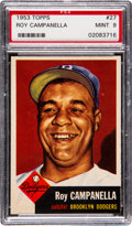 Baseball Cards:Singles (1950-1959), 1953 Topps Roy Campanella #27 PSA Mint 9 - Only One Higher....