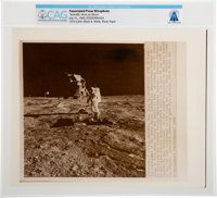 "AP Original Wirephotos: ""Scientific Work on Moon"" July 31, 1969, Directly From The Armstrong Family Collection..."