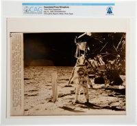 "AP Original Wirephotos: ""Solar Wind Experiment"" July 31, 1969, Directly From The Armstrong Family Collection™..."