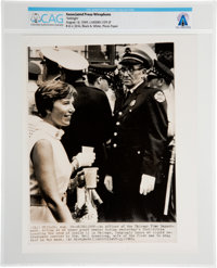 """AP Original Wirephotos: """"Sidelight"""" August 14, 1969, Directly From The Armstrong Family Collection™, CAG Certi..."""