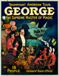"Movie Posters:Miscellaneous, George --The Supreme Master of Magic (Otis Litho, Mid ). Folded, Fine+. Eight Sheet (80"" X 102"").. ..."