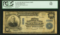 National Bank Notes:North Carolina, Marion, NC - $10 1902 Plain Back Fr. 634 The First NB Ch. # 6095 PCGS Fine 12.. ...