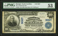 National Bank Notes:North Carolina, Raleigh, NC - $10 1902 Plain Back Fr. 626 The Commercial NB Ch. # 9067 PMG About Uncirculated 53.. ...