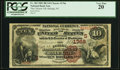 National Bank Notes:North Carolina, Raleigh, NC - $10 1882 Brown Back Fr. 484 The Citizens NB Ch. # (S)1766 PCGS Very Fine 20.. ...