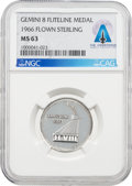 Explorers:Space Exploration, Gemini 8 Flown MS63 NGC Silver Fliteline Medallion Directly From The Armstrong Family Collection™, CAG Certified....