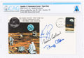 "Explorers:Space Exploration, Apollo 11 Crew-Signed ""Type One"" Insurance Cover Directly From The Armstrong Family Collection™, CAG Certified. ..."