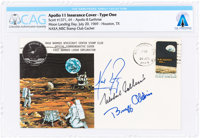 "Apollo 11 Crew-Signed ""Type One"" Insurance Cover Directly From The Armstrong Family Collection™, CAG Certified..."