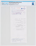 Explorers:Space Exploration, Neil Armstrong Signed 1993 Store Receipt for Dillard's Department Store Directly From The Armstrong Family Collection™, CA...