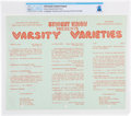 """Explorers:Space Exploration, Purdue University: 1954 """"Varsity Varieties"""" Program with """"La Fing Stock"""" Directed by Neil Armstrong Directly From The Arms..."""