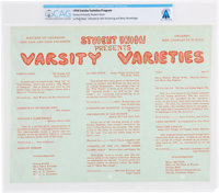 """Purdue University: 1954 """"Varsity Varieties"""" Program with """"La Fing Stock"""" Directed by Neil Armstrong..."""