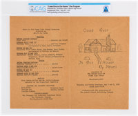 "Blume High School: ""Come Over To Our House"" Original 1947 Senior Class Play Program with Neil Armstrong as &qu..."