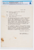 Explorers:Space Exploration, Neil Armstrong's 1960 Letter (Carbon) to the Secretary of the Navy Asking for an Honorable Discharge, Directly from The Armstr...