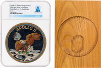 Apollo 11: Beautiful Gold and Silver Wire Embroidered Mission Patch From The Armstrong Family Collection™, CAG Certified...