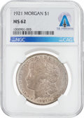 Explorers:Space Exploration, Coins: 1921 $1 MS62 NGC Morgan Silver Dollar Directly From The Armstrong Family Collection™, CAG Certified. ...