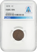 Explorers:Space Exploration, Coins: 1878 1¢ FAIR2 BN NGC Indian Cent Directly From The Armstrong Family Collection™, CAG Certified. ...