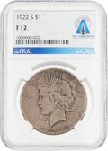 Explorers:Space Exploration, Coins: 1922-S $1 F12 NGC Peace Silver Dollar Directly From The Armstrong Family Collection™, CAG Certified. ...